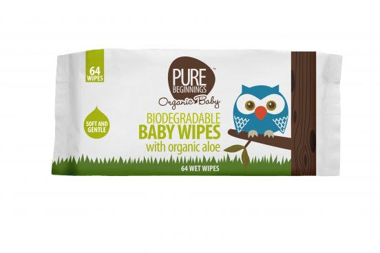 Pure beginnings biodegradable baby wipes